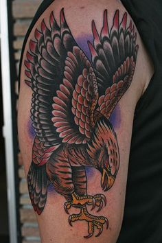 What does hawk tattoo mean? We have hawk tattoo ideas, designs, symbolism and we explain the meaning behind the tattoo. Tribal Eagle Tattoo, Eagle Tattoos, Foot Tattoos, Tribal Tattoos, Sleeve Tattoos, Native Tattoos, Music Tattoos, New Tattoos, Tattoos For Guys