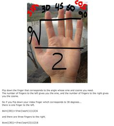 My memory for this kind of thing was much better back in high school, but this still could have been helpful for those pesky reference angles! Cool Math For Kids, Love Math, Fun Math, Math Games, Math Activities, Maths, Math Teacher, Math Classroom, Teaching Math