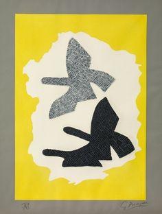 Gravure - Georges Braque - Oiseaux en vol, 1961