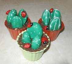 cacti and handmade home decorations inspired by cacti