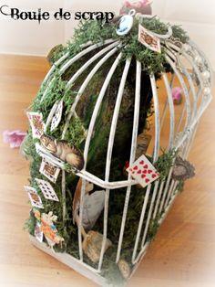 Cage Alice aux pays des merveilles et du scrap