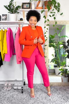 Office Outfits Women Casual, Casual Dress Outfits, Casual Dresses For Women, Dresses For Work, Clothes For Women, Work Outfits, Summer Dress Outfits, Blazer Outfits, Colourful Outfits