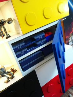 IKEA Hackers: The BEST(A) LEGO shelves  I do like the storage cupboards for organizing LEGO bricks