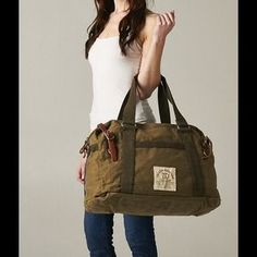 Handbags - Perfect Canvas and Leather Duffel Travel Bag