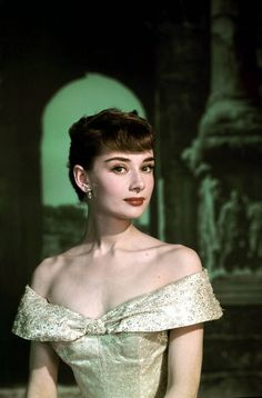 Audrey Hepburn promotional photo for'Roman Holiday',1953.