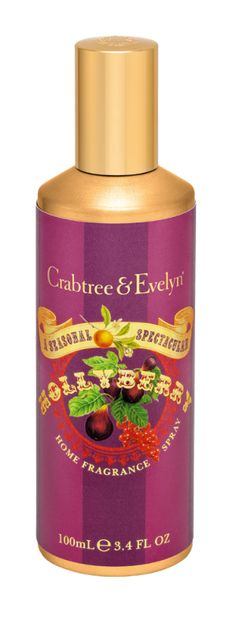 Fresh, ambrosial air reminiscent of holidays past. There's nothing quite like it to make the season extra special. Our Hollyberry Home Fragrance Spray infuses the most cherished of spaces with a fragrant burst of fresh fig, ripe crimson berries, spicy nutmeg, and coriander. Just one spritz and it's pure splendor.