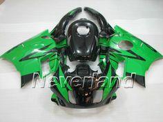 Carenado de ABS de Honda CBR600 F2 1991-1994 - Negro/Verde