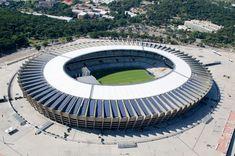 Estadio Mineirao – a FIFA Football World Championships 2014 stadium in Belo Horizonte, Brazil; Baseball Park, Soccer Stadium, Football Stadiums, World Cup 2022, Fifa World Cup, Stadium Architecture, International Soccer, Sports Complex, National Football Teams