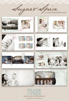 10x10 Album Template Sugar & Spice Press Printed by frankandfrida, $40.00