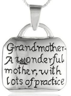 Darling grandma quote necklace - and it's not too expensive!  #grandmagifts #christmas