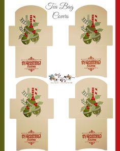FREE printable Christmas Tea Bag Covers