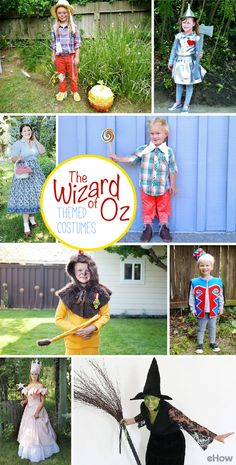 DIY Wizard of Oz Costumes eHow DIY Wizard of Oz Costumes eHow eHow ehow DIY Fabric Crafts Get the whole family to dress up as nbsp hellip Wizard Of Oz Costumes Diy, Themed Halloween Costumes, Scarecrow Costume, Family Costumes, Halloween Boo, Halloween Birthday, Diy Costumes, Wizard Oz, Costume Ideas