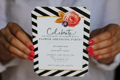 molly swoons: A FLOWER ARRANGING PARTY | Tiny Prints party invitations make it easy to plan a variety of fun things to do this summer.