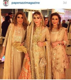 Muted candy orange and gold tissue by bunto kazmi for the khizjan wedding