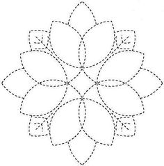 This is supposed to be redwork, but I think it would rock as a quilting design.