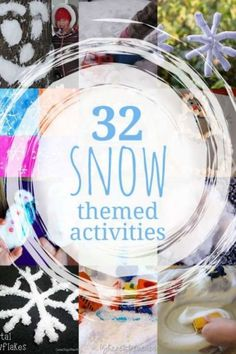 WINTER- 32 snow ideas for a snow theme or unit. Making snow, snowflakes, and snowmen are great winter activities for the kids to do that fit in the snow theme. Winter Activities For Kids, Fun Activities To Do, Winter Crafts For Kids, Winter Kids, Toddler Activities, Preschool Winter, Preschool Music, Weather Activities, Toddler Play