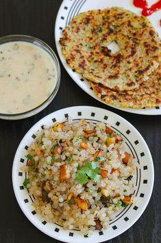Sabudana Khichdi Recipe for Navratri vrat or Hindu fasting days. Tips are shared to soak sabudana and to make perfect, non-sticky sabudana khichdi. Indian Snacks, Indian Food Recipes, New Recipes, Vegetarian Recipes, Cooking Recipes, Favorite Recipes, Healthy Recipes, Ethnic Recipes, Rice Recipes