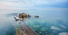 island sea in morning 4k ultra hd wallpaper