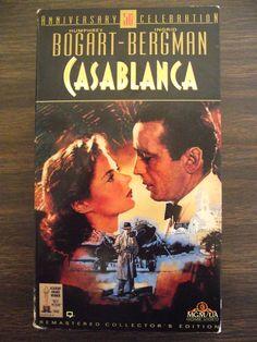 1992 VHS Tape Casablanca 50th Anniversary by AdriennesAtticStore