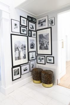 Tips and Trick: Hanging Frames - Classy Clutter Stairway Gallery Wall, Gallery Wall Layout, Gallery Wall Frames, Frames On Wall, Gallery Walls, Wall Frame Layout, Hanging Pictures On The Wall, Picture On The Wall, Photos On Wall