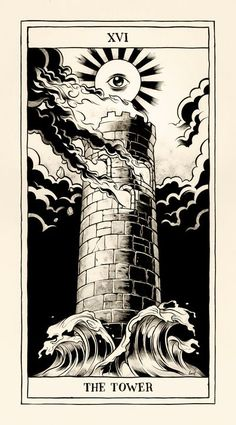 The tower (when upside down) means to be exiting a chaotic situation in a positive way. This is, hands down, my favorite card from the Tarot deck. Does this make me weird? ;D #tarotcardsart