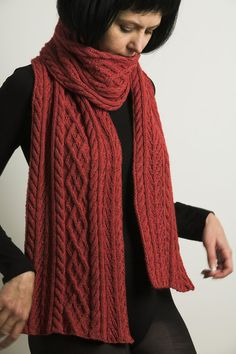 Cashmere Cotton and Angora in one hand knitted red by linarekl, $209.00