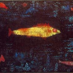 Paul Klee, Goldfish 1925 - surely I am not the only one who loves this Klee. I have a print of it and have yet to meet anyone who appreciates it like I do.