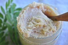 Delicious Coconut Oil/Sugar Scrub 1 cup unrefined coconut oil 1 cup sugar 1/4 tsp cinnamon 1/4 tsp ginger 1 tsp vanilla 6 drops orange essential oil 6 drops bergamot essential oil Combine all ingredients and store in a shower-friendly container. Use as needed just before bathing- it works better if your skin is still dry.
