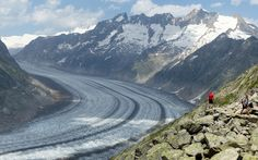 Aletsch Glacier (Summer holidays mountains ). Photo by myvalleylil