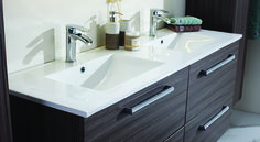 dobbel vask bad Double Vanity, Bathroom Ideas, Double Sink Vanity, Decorating Bathrooms