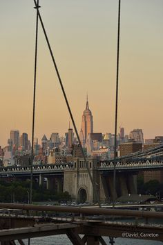 Sunset from Brooklyn Bridge by Davidcarreton, via Flickr