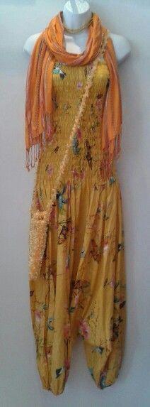 Fair trade, locally made. Harem jumpsuit £27.00 Bottle bag £4.00 #butterflies #hummingbirds #yellow