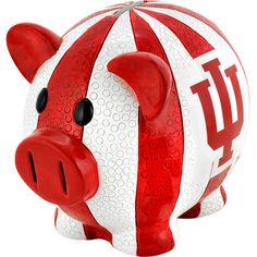 Make your own IU piggy bank with some Cream and Crimson paint.