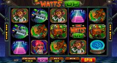 Visit the lab of the mad scientist with Dr Watts Up video slot, provided by Microgaming. This 5 reeled slot offers 243 ways to win the amazing prizes. All you need to do is to choose the bet size and click the spin button. Beautifully designed symbols will create the winning combinations. Maximum jackpot is 480K points, so there are a lot of interesting things to try in this game.