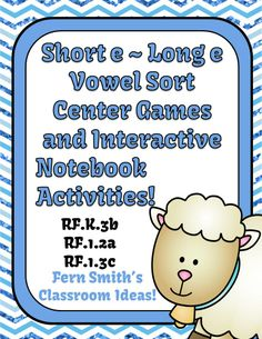 Long and Short Vowel Sorting Center Games
