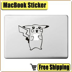 Pokemon Pikachu Laptop Sticker Skin for Apple Macbook Air Pro Retina 11 13 15…