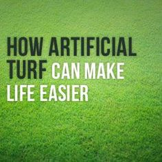 Artificial grass has been proven to have many benefits. Here's how it makes homeowners, as well as business owners' lives easier and stress-free. Low Maintenance Yard, Lawn Turf, Fake Grass, Artificial Turf, Stress Free, How To Plan, How To Make, Make It Yourself, Canning