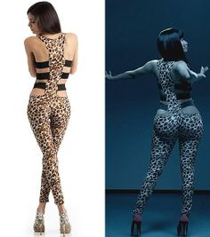 nicki minaj jumpsuit leopard | If you like this look, but don't think you can commit to such a ...
