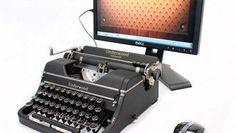 ¿Tienes una vieja máquina de escribir en algún lugar de tu casa y no te deshaces de ella por cariño? Ahora puedes darle una nueva vida y convertirla en un teclado para dispositivos digitales.