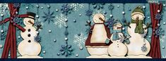 Scrapbook Style Snowman Facebook Cover