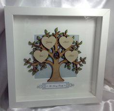 Family Tree Frame Handmade Personalised by LouisesCardsandGifts