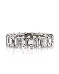 Mark Broumand 4.75ct Emerald Cut Diamond Eternity Band Wedding Ring - The Knot