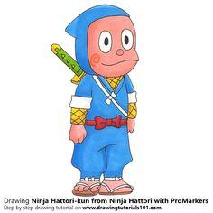 Kemuzou Kemumaki From Ninja Hattori With Color Pencils Time Lapse