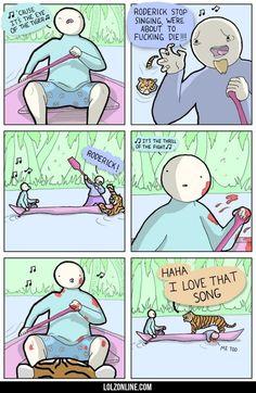 Eye Of The Tiger #lol #haha #funny