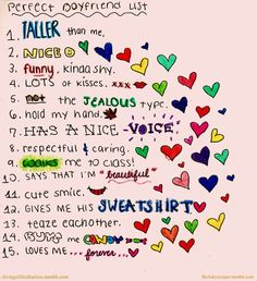 perfect boyfriend list!