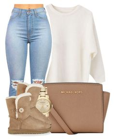 """Cause' its been too Long,since your Heart has been mine to Hold on to."" by bria-myell ❤ liked on Polyvore featuring MICHAEL Michael Kors, Burberry, UGG Australia, women's clothing, women's fashion, women, female, woman, misses and juniors"