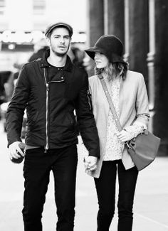Andrew Garfield and Emma Stone. NYC