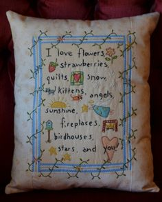 Hand Embroidered/Colored Decorative Love by StitchingTimeBoutiqu $20 on Etsy