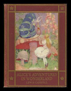 Alice's Adventures in Wonderland. Year: #1923. Country: #US. Illustrations: Gertrude A. Kay & John Tenniel. Additional Info:J.B. Lippincott Company printed edition. #book #cover #art