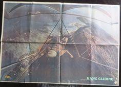 Wall Decor Bollywood magazine sun Filmy Poster unframed XL SPACE HANG GLIDING #SunMagazine #Vintage